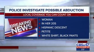 JSO seeking information about possible abduction