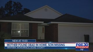 MOTHER FOUND DEAD IN HOME, SON MISSING