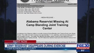 Army reservist disappears during exercise
