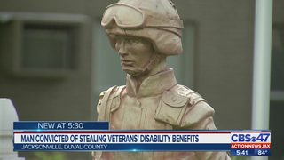 Jacksonville man accused of pretending to be a blind veteran to claim benefits