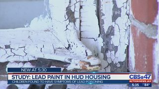 Study: lead paint in HUD housing