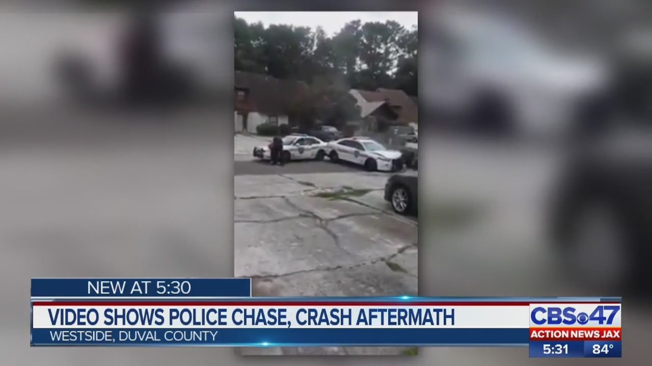 66bcd8c5cb Cellphone video captures aftermath of police chase on Jacksonville's  westside   WJAX-TV