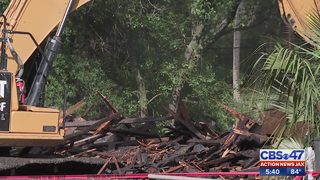 Historic home demolished following fire