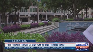 Jacksonville City Council president wants lynching memorial in Hemming Park