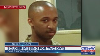 Search for missing soldier