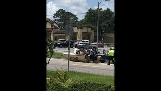 Photos: Boat in the middle of Blanding Boulevard in Jacksonville