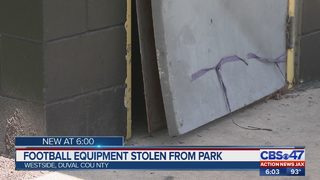 Football equipment stolen from park