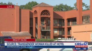 Transgender woman killed at hotel