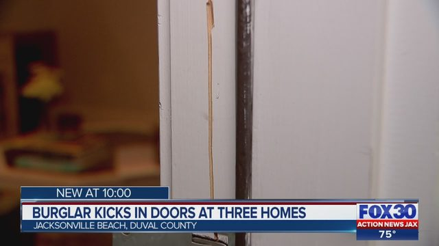 Thief burglarizes multiple Jacksonville Beach homes by kicking in front doors | WJAX-TV & Thief burglarizes multiple Jacksonville Beach homes by kicking in ...