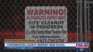 Contamination cleanup underway near school