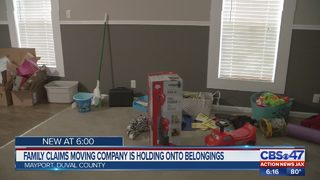 Family claims moving company is holding onto belongings