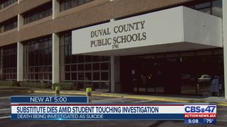 Jacksonville substitute teacher dies during investigation of inappropriate touching accusation