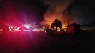 Fire breaks out at boat marina in Fernandina Beach