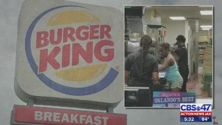 Burger King customer appears to prepare food