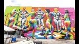 The Dance of the Seven Sins Muses by Okuda, 927 W Forsyth St, Photo Credit: Art Around