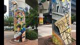Pillars by Andrew Reid aka SHEd, West Bay Street, Photo Credit: Jihan Grant / Jax Fray