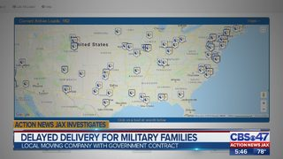 Military families say Jacksonville moving company stranding them for weeks without belongings