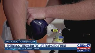 Speeding citations pay for life-saving equipment