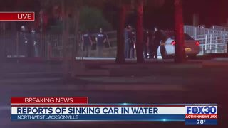 Reports of sinking car in water