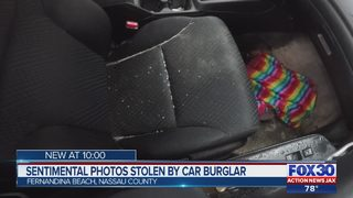 Sentimental photos stolen by car burglar
