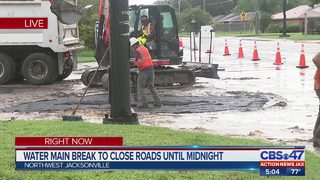 Part of Soutel Drive remains closed after water main break