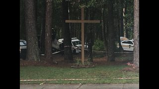 JSO officer hospitalized after striking tree outside Jacksonville church
