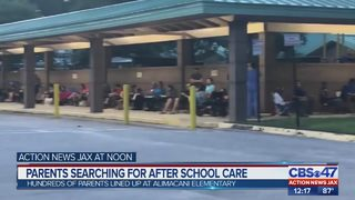 Parents wait in long line in search for after school care