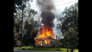 Flames engulf Columbia County home