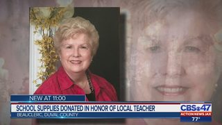 School supplies donated in honor of local teacher