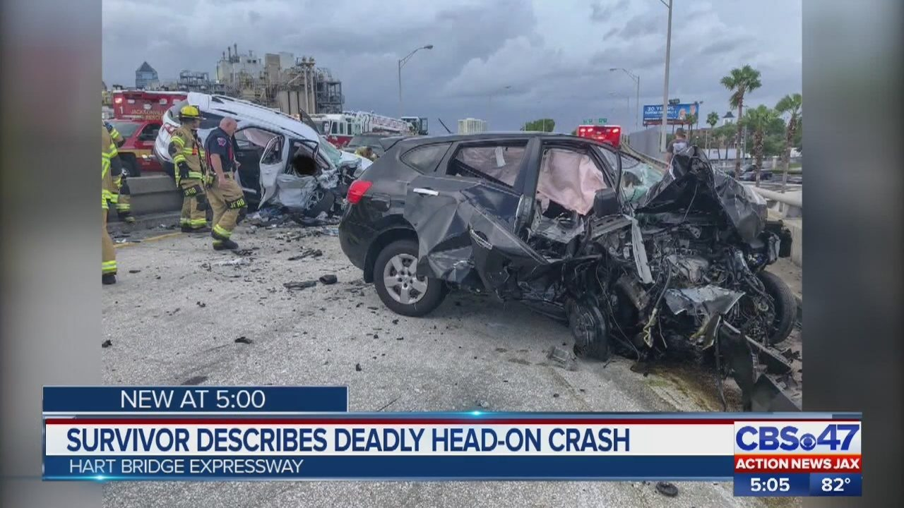 Jacksonville Hart Expressway crash survivor says crash was