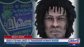 Search for man linked to transgender woman