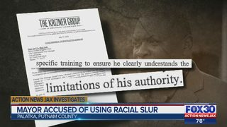 Mayor accused of using racial slur