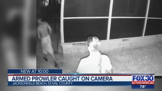 Armed prowler caught on camera