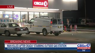 Man killed after deadly stabbing outside gas station