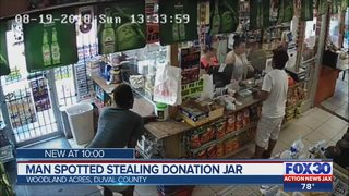 Man spotted stealing donation jar