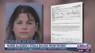 Nurse allegedly steals $41,000 from patient