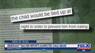 Baker County child abuse: Local boy tied up at night to prevent him from eating