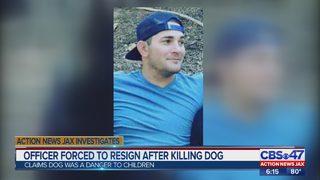 Officer forced to resign after after killing dog