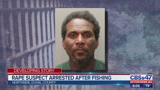 Accused rapist is caught six months later while illegally fishing