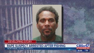 Rape suspect arrested after fishing