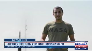 Student selected for astronaut training in Russia