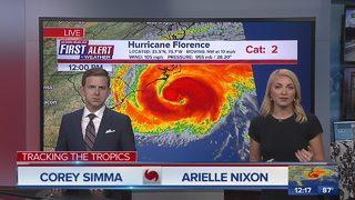 First Alert Forecast: September 13, 2018, Noon