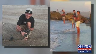 Fernandina Beach shark bite victim able to walk again