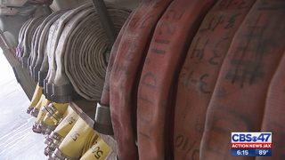 Old fire hoses used for school safety gear