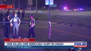 One killed, one seriously hurt in crash