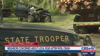 Two dead in Nassau County crash involving log truck
