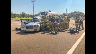 Photos: Person cut from car on Dunn Avenue