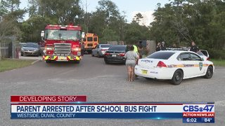 Parent arrested after school bus fight