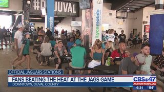 Fans beat heat at Jags game