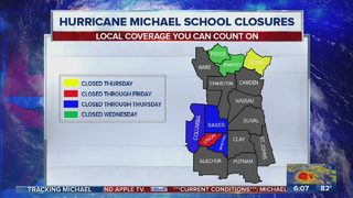 Here is a list of Florida, Georgia school closures due to Hurricane Michael